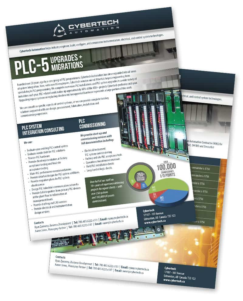 Download Cybertech's PLC-5 Upgrades and Migrations brochure